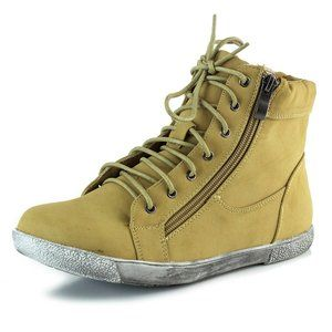 DISTRESSED Ankle High Top Sneakers